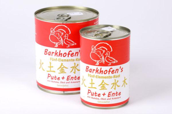 Barkhofen´s Pute Ente Napf Express Hundefutter Dosenfutter