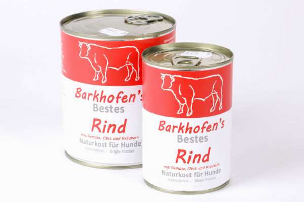 Barkhofen´s Rind Napf Express Hundefutter Dosenfutter