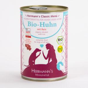 Herrmanns Bio Huhn Reis • Napf Express • Hundefutter online kaufen • Katzenfutter • Lippstadt • Paderborn • Gütersloh • Dosenfutter