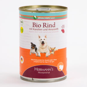 Herrmanns Bio Rind Karotten Amaranth • Napf Express • Hundefutter • Katzenfutter • Lippstadt • Paderborn • Dosenfutter