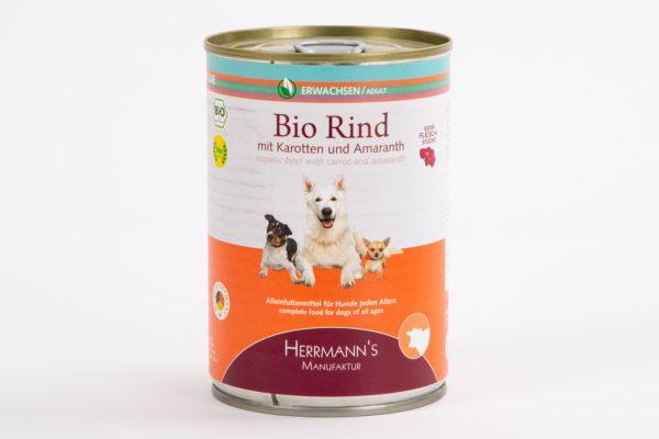 Herrmanns Bio Rind Karotten Amaranth • Napf Express • Hundefutter online kaufen • Katzenfutter • Lippstadt • Paderborn • Gütersloh • Dosenfutter