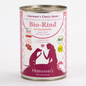 Herrmanns Bio Rind Süßkartoffel • Napf Express • Hundefutter • Katzenfutter • Lippstadt • Paderborn • Gütersloh • Dosenfutter