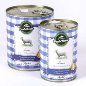PaulsBeute Lamm Napf Express Hundefutter Dosenfutter hundefutter online kaufen