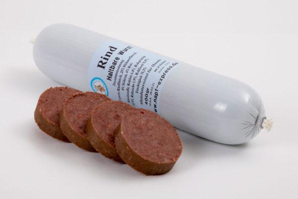 Haltbarer Napf Rind 400 g • Napf Express • Hundefutter • Haltbare Wurst online kaufen • Barf Shop Lippstadt Paderborn Gütersloh