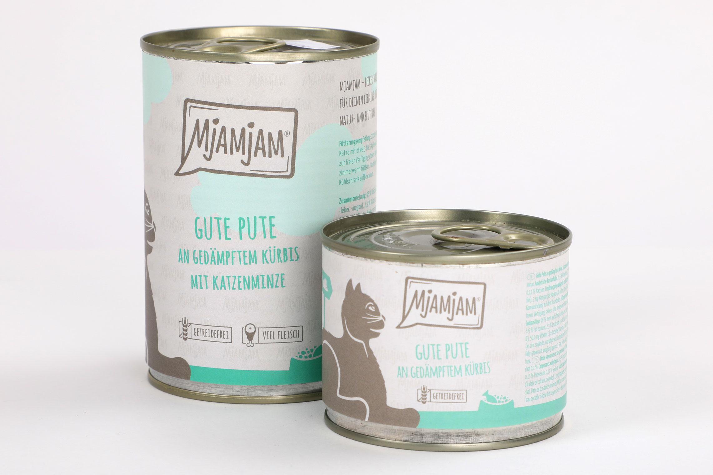 Mjamjam Gute Pute Kürbis Napf Express Hundefutter Dosenfutter Katzenfutter Katzenfutter online kaufen
