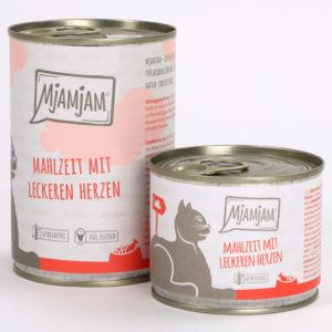 Mjamjam Mahlzeit mit leckeren Herzen Napf Express Hundefutter Dosenfutter Katzenfutter Katzenfutter online kaufen
