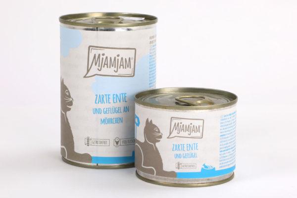 Mjamjam Zarte Ente Napf Express Hundefutter Dosenfutter Katzenfutter Katzenfutter online kaufen
