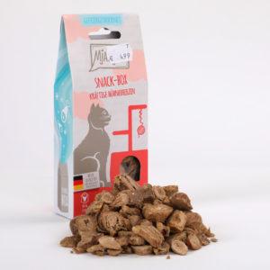 Mjamjam Snack-Box Kräftige Hühnerherzen Napf Express Hundefutter Leckerlies Katzenfutter Katzenfutter online kaufen