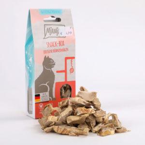 Mjamjam Snack-Box Erlesene Hühnermägen Napf Express Hundefutter Leckerlies Katzenfutter Katzenfutter online kaufen